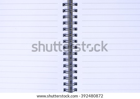 White lined pages of note book