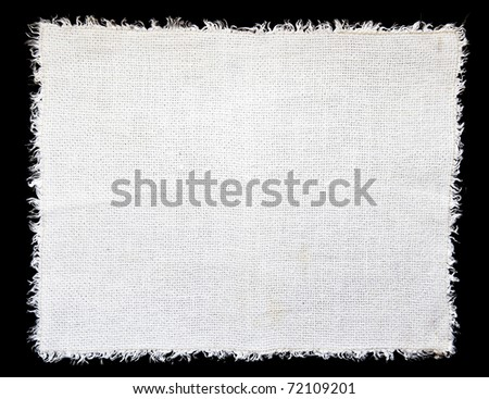 White linen cloth as a background - stock photo