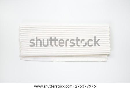 White linen napkin - stock photo