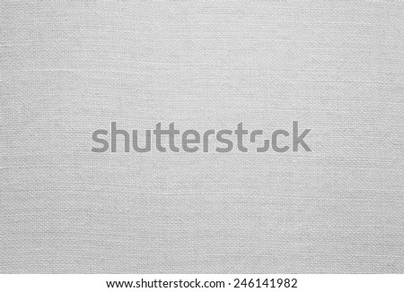 White linen texture, background with copy space - stock photo