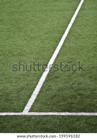 White lines at soccer field