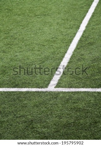White lines at soccer field vertical