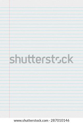 Blank White Paper Sheet Background Blue Stock Illustration