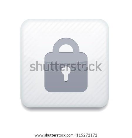white lock icon. - stock photo