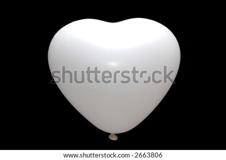 White Love baloon isolated - stock photo