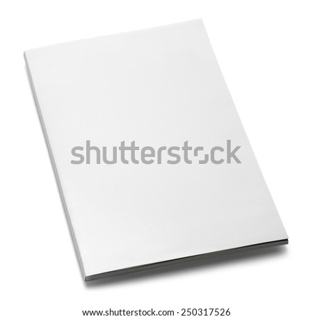 White Magazine with Copy Space Isolated on White Background. - stock photo
