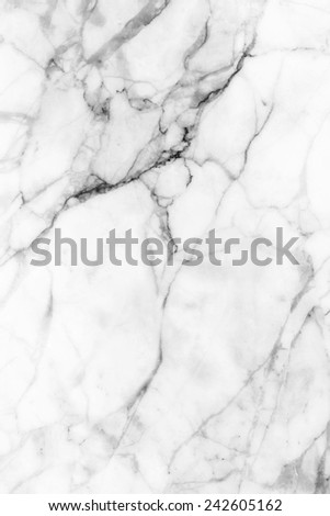 White marble patterned texture background ,(black and white). - stock photo