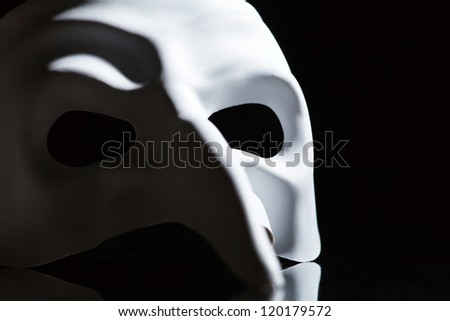 white mask - stock photo