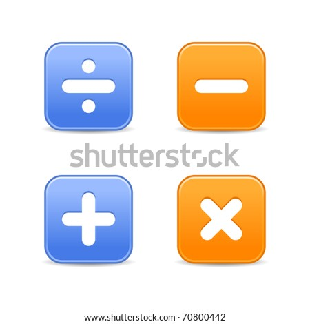 White Math Symbols On Web 20 Stock Illustration 70800442 - Shutterstock