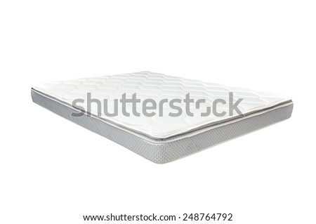 White mattress - stock photo