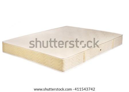 white mattress - stock photo