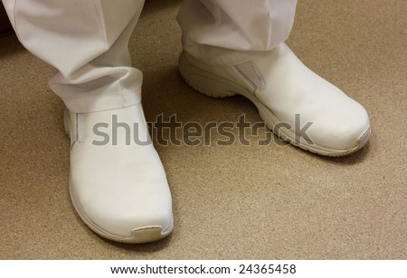White medical shoes - stock photo
