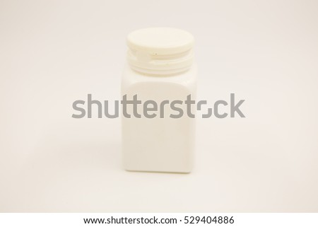 White medicine bottle