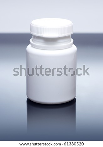 White medicine bottle closed