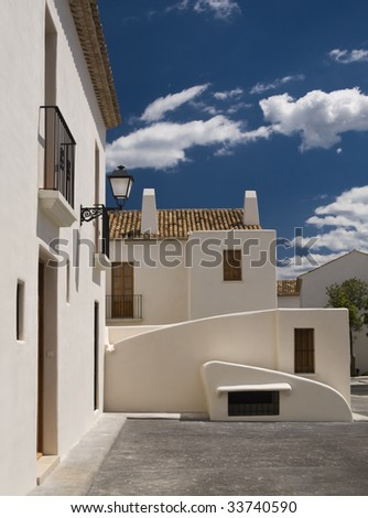 White Mediterranean houses of a Spanish town