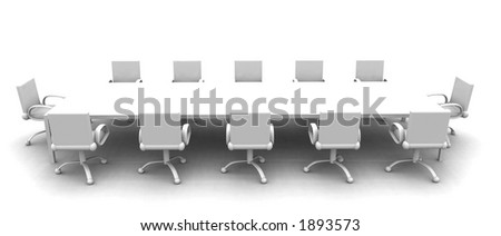 White Meeting room - side view