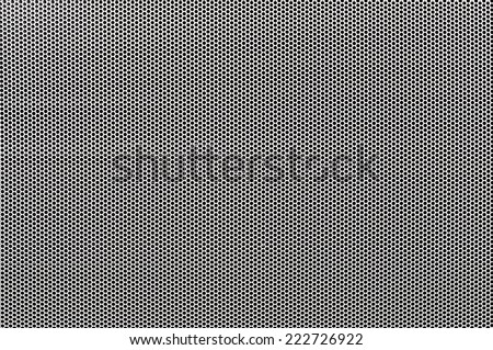 White metal perforated with dots background - stock photo