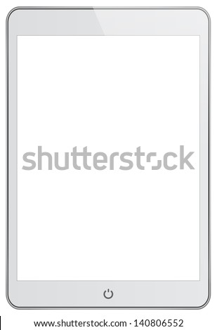 White Mini Business Tablet In iPad Style - stock photo