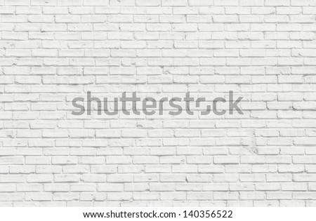White misty brick wall for background or texture - stock photo