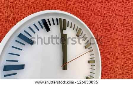 white modern clock - stock photo