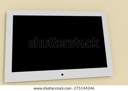 White modern tablet computer - stock photo