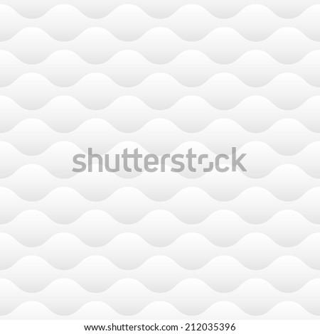 White modern wavy pattern - stock photo