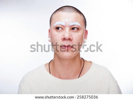 white monk - stock photo