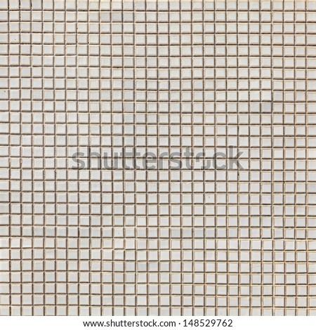 white mosaic pattern  - stock photo