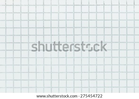 White mosaic tiles texture - stock photo