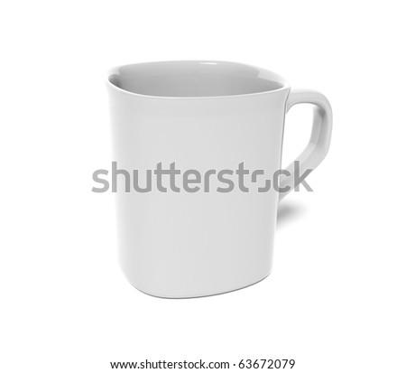 White mug - stock photo