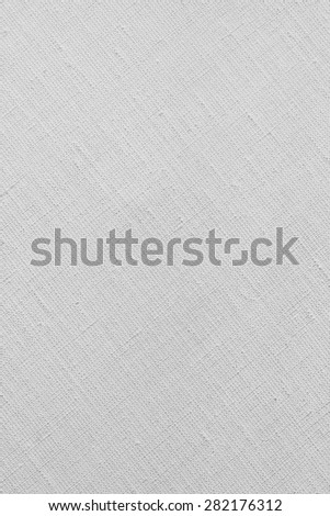 White natural linen canvas texture for the background - stock photo