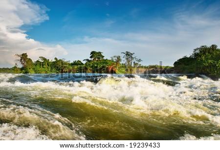White Nile, Bujagali Falls, Uganda - stock photo