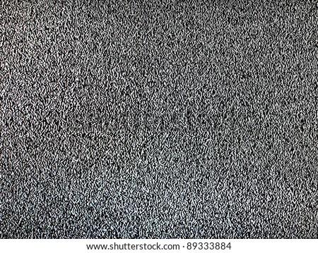 White noise on television - stock photo