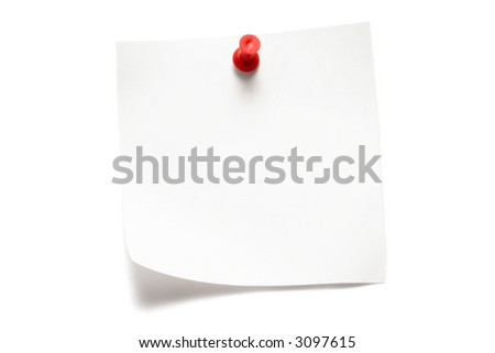 White Note - stock photo