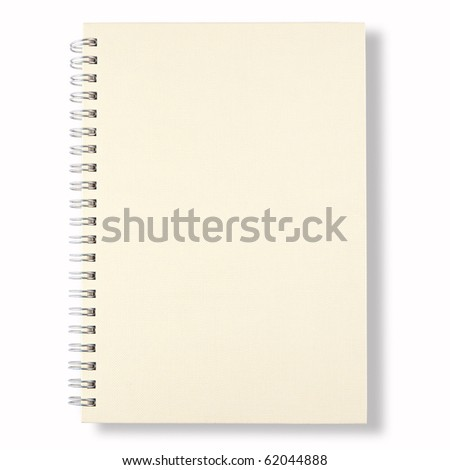 white note book isolate on white background