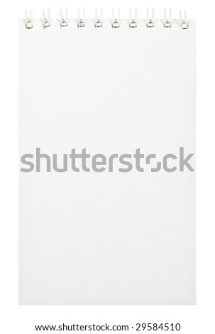 White note isolated on white - stock photo