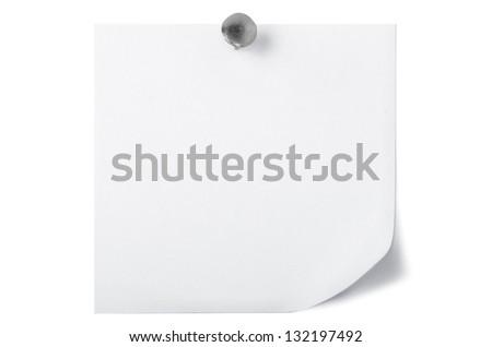 White note paper - stock photo
