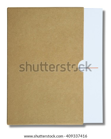 White notebook isolated on white background - stock photo