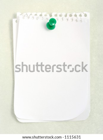 White notebook paper against gray background (with clipping path) - stock photo