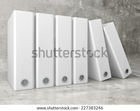 White office folder on concrete background - stock photo