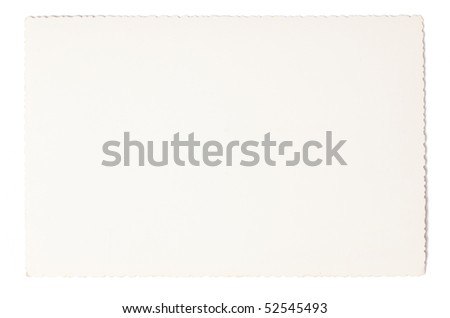 white old paper on white background - stock photo