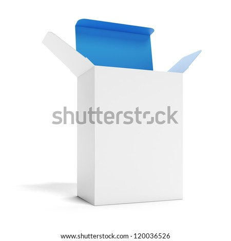 White opened box - stock photo