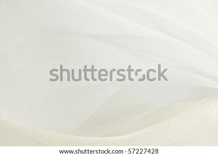 white organza fabric texture background - stock photo