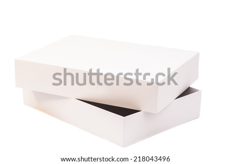 White Package Cardboard Box Opened - stock photo