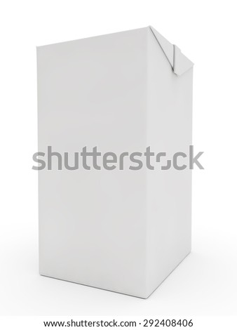 white packing for juice or milk - stock photo