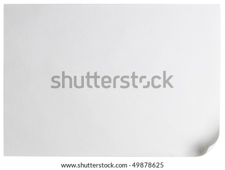 White page curl - stock photo