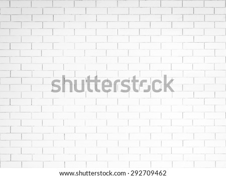White painted old aged brick tile wall texture background : Tiled brick wall pattern textured  backdrop painted in light smokey grey white color tone in grunge vintage style for interiors  - stock photo