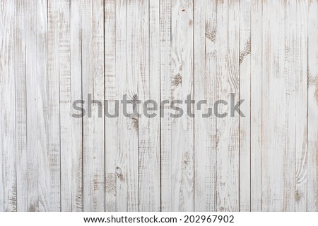 White painted old wooden background - stock photo