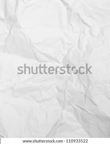 white paper background, creased paper texture - stock photo