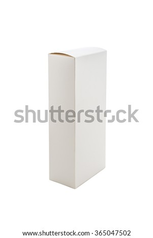 White Paper Box isolated on a White background - stock photo